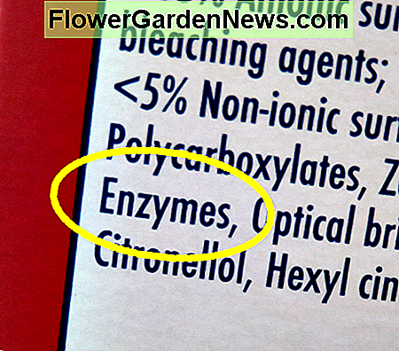 Look for the word enzymes in the ingredients.