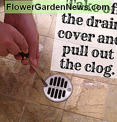 Take off the drain cover and pull out the clog.