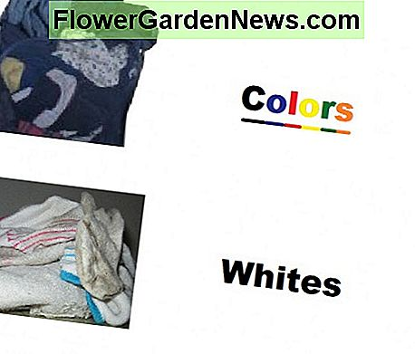 Separate white and colored clothes