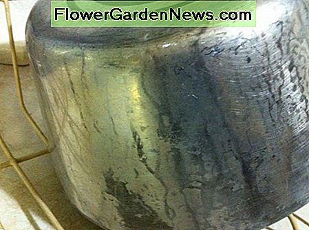 Aluminum saucepan before CLR Metal Clear