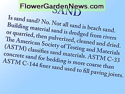 This blurb defines two ASTM types of building sand.
