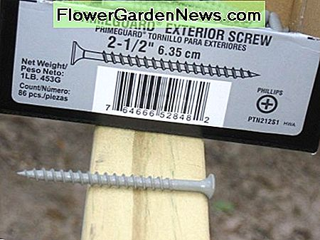 Exterior screws for outside projects