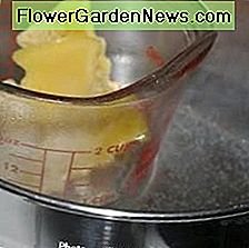 Make your own double boiler with a saucepan and a glass measuring cup.