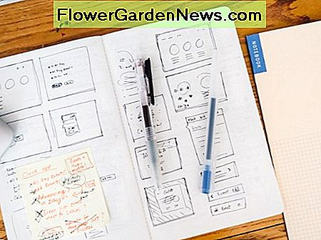 Garden Journal Sketch can have planning templates or simple homemade layouts. Make some sample layouts to quickly follow when recording.