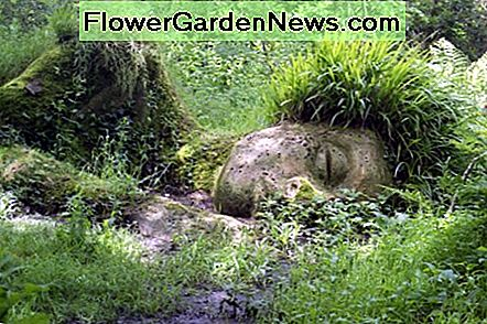 The Mud Maid sculpture in the Lost Gardens of Heligan
