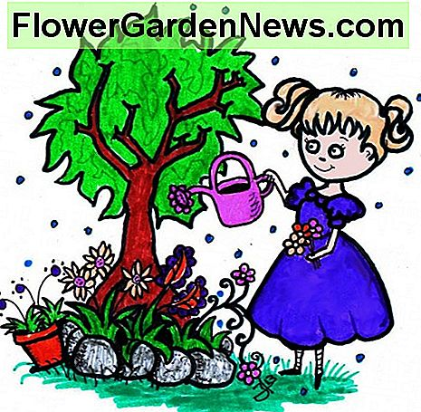 Gardening is magical to children. Original artwork by author.
