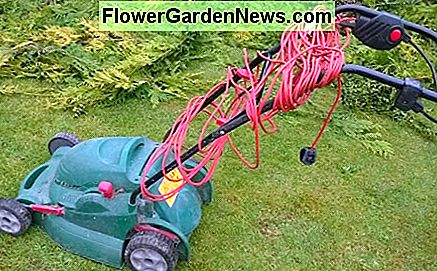 Garden equipment can be corded and powered by mains electricity.