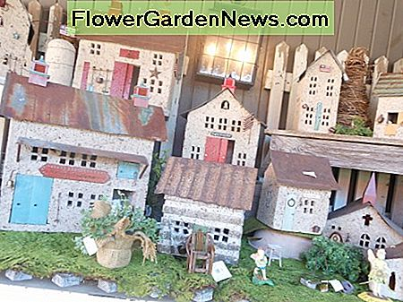 Bird houses come in various styles, shapes and colors. These are made of heavy stone and have a wonderful rustic and authentic look.