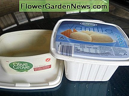Make use of empty plastic containers