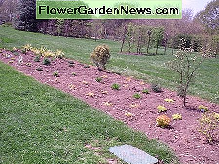 A newly planted perennial garden at Rutgers Gardens
