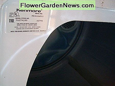 Kenmore Dryer Model Number Location
