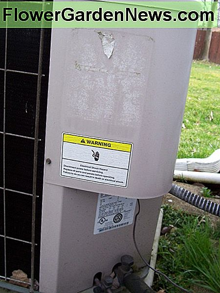 Condenser electrical access panel.