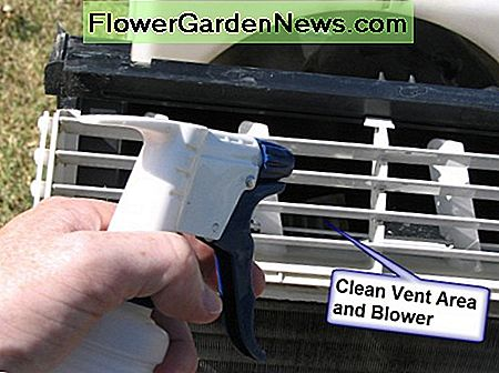 Use a combination of bleach and water to clean your AC's vent and blower.