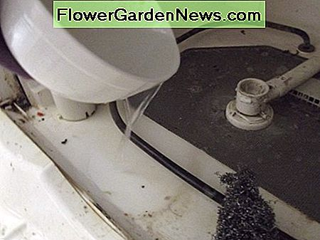 Pour water over the area you are working on to flush gunk away