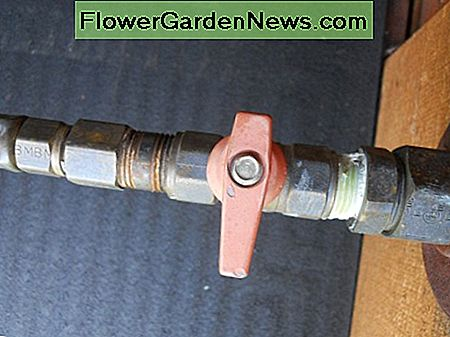 It may be as simple as turning on the gas to the water heater. This handle is in the