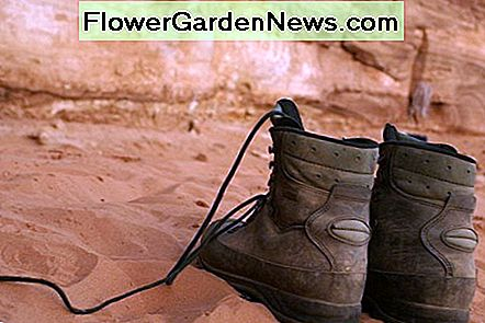 Hiking boots treated with NeverWet will keep your feet dry - at least for a while.