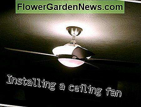Installing a ceiling fan like this is quick and easy.