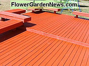 SuperDeck semi-transparent stain in the waterborne finish.