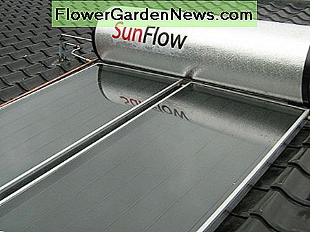 A typical home solar water heating system on a roof