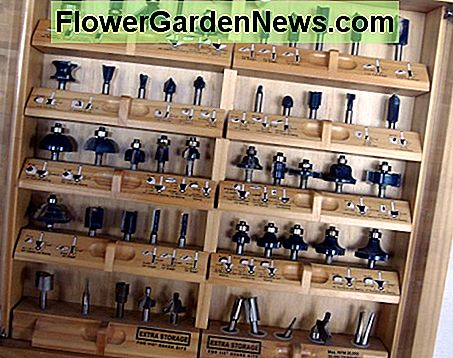 A set of various router bits; closeups of some are in the following pictures.