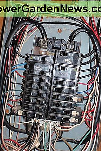 A modern, if messy, electrical panel