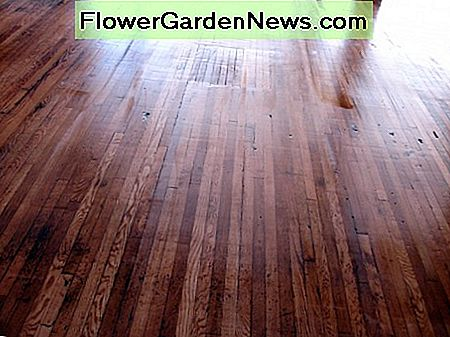 Don't worry if it isn't perfect. An old wood floor's imperfections are part of its charm.