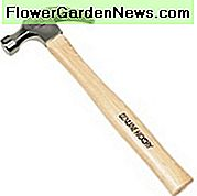 Claw hammer with hickory handle
