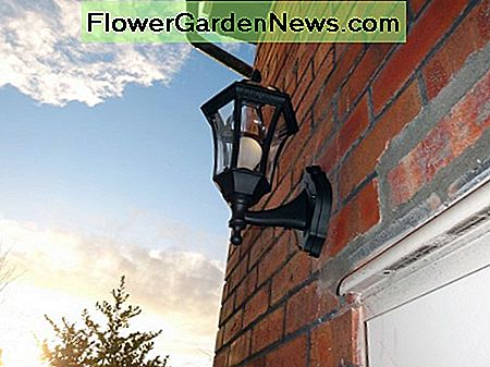 New outside light, to match style of other lights in the garden.