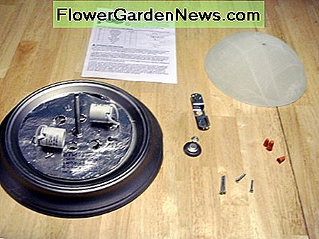 New light with all the parts. The support bracket shown will not be used this time.