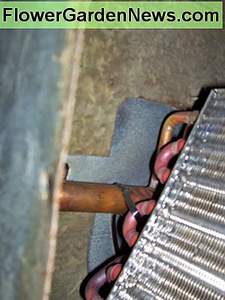 Here is a partial view of what the evaporator coil inside the case looks like.