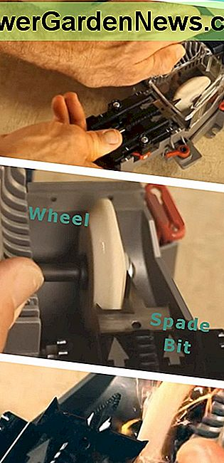 How to sharpen spade drill bits.