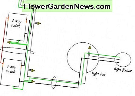 3 way wiring diagram with power entering switch #1