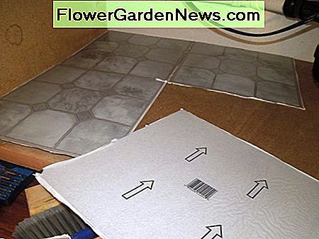 Using Self Adhesive Vinyl Tiles for the Floor Under the Kitchen Sink