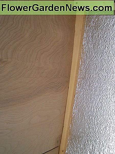 One corner of the paneling was cut away to fit around the rear ceiling support.