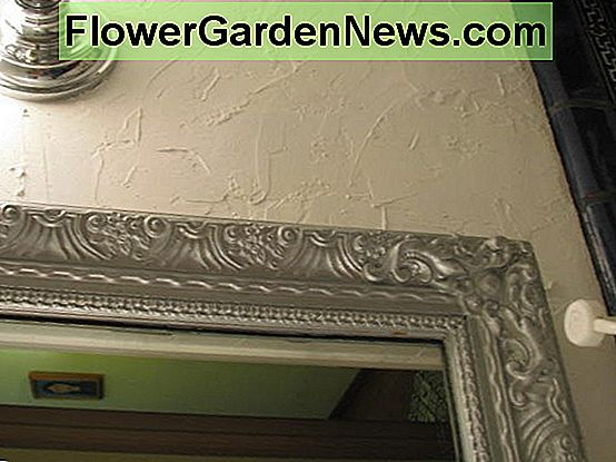 Close up look of painted plaster.