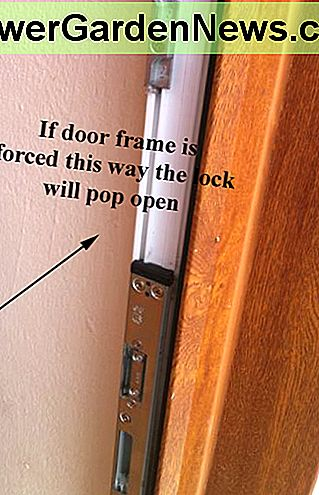 Door keeps on frame which holds the door closed