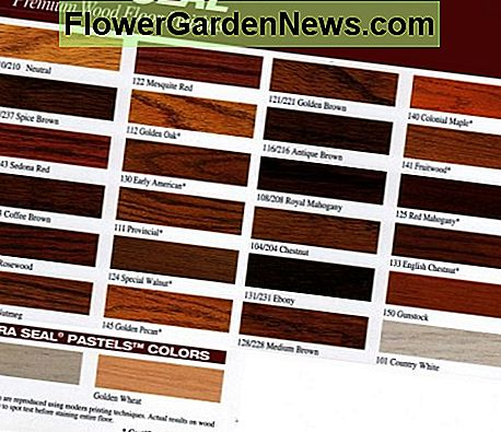Dura Seal Hardwood Stain Color Chart & Swatches