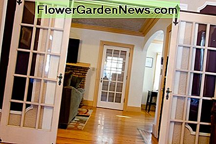 French doors become rolling doors