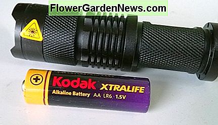 LED torch with zoomable beam. Runs on a single AA cell. Much brighter than a double AA Maglite.