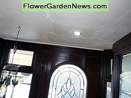 New LED recessed spotlight fitted for clearance of new inner door to open into the porch.