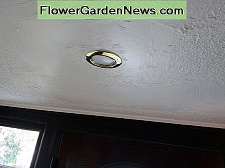 New LED spotlight with brass effect surround.