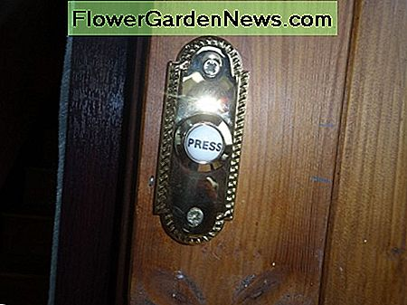 New doorbell for the inner door with the word 'Press' printed on button