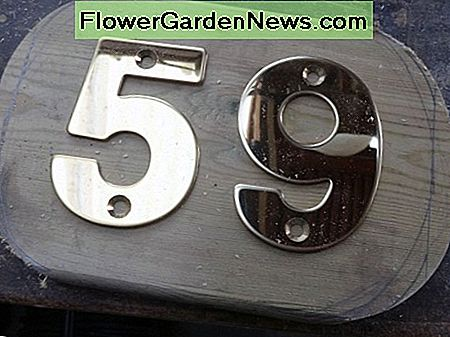 House numbers test fitted on cut-out