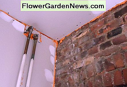 Fill gaps along the basement's walls and ceiling with a foam sealant.