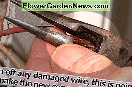 Snip off any frayed or damaged wire ends to expose clean new wire sections.