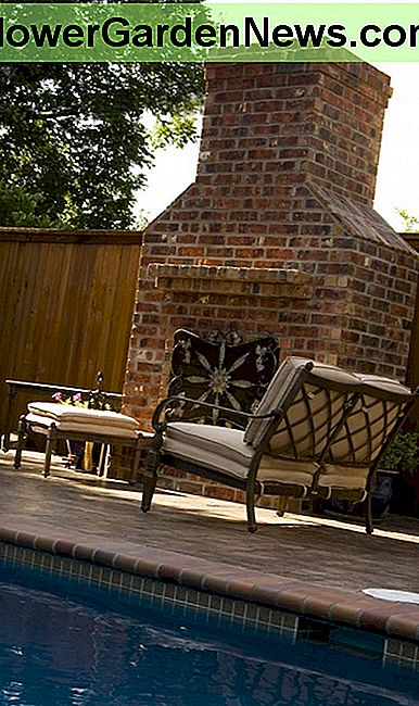 An outdoor fireplace can look much like a traditional fireplace.