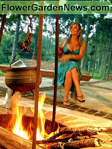 A fire pit can mimic a camp fire.