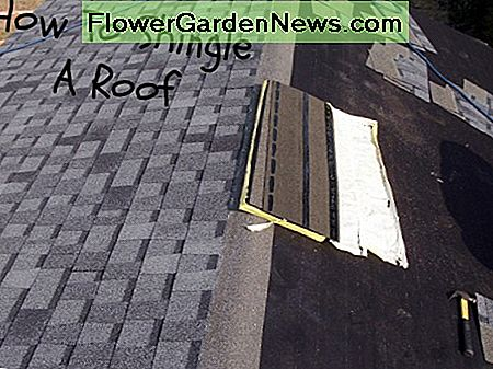 Laying asphalt shingles isn't difficult, it just takes some time.
