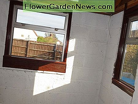 A fit of a recycled window, with only minor alterations to the opening