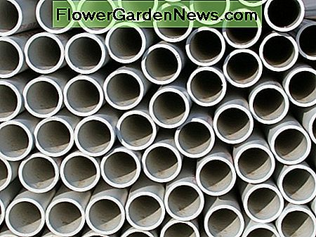 A Stack of PVC Pipe